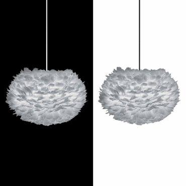 Umage / VITA Eos Lampenschirm grau aus Gänsefedern D 45 cm Höhe 30 cm Lampe light grey – Bild 3