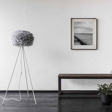 Umage / VITA Eos Lampenschirm grau aus Gänsefedern D 45 cm Höhe 30 cm Lampe light grey – Bild 6