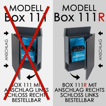 MOCAVI Box 111R Design-Briefkasten mit Zeitungsfach anthrazit-grau (RAL 7016) Wandbriefkasten, Schloss links, groß – Bild 3