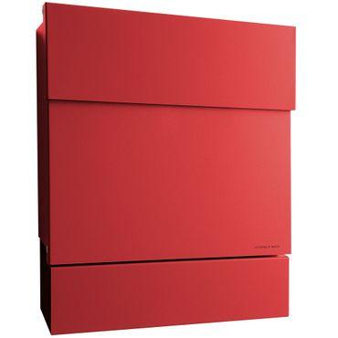Radius Briefkasten Letterman 5 rot mit Zeitungsrolle 561r