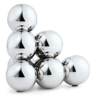 Philippi Bubbles Buchstütze aus Edelstahl poliert Höhe 15 cm
