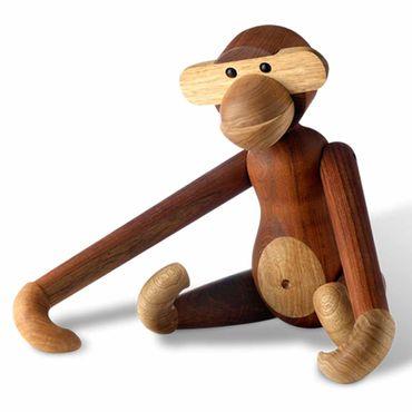 Kay Bojesen Affe gross aus Teak und Limbalholz Höhe 46 cm