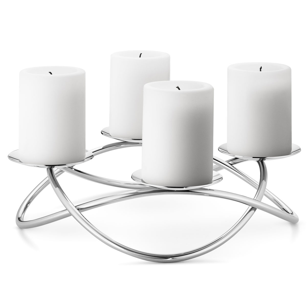 georg jensen season edelstahl kerzenhalter gl nzend d 31 5. Black Bedroom Furniture Sets. Home Design Ideas