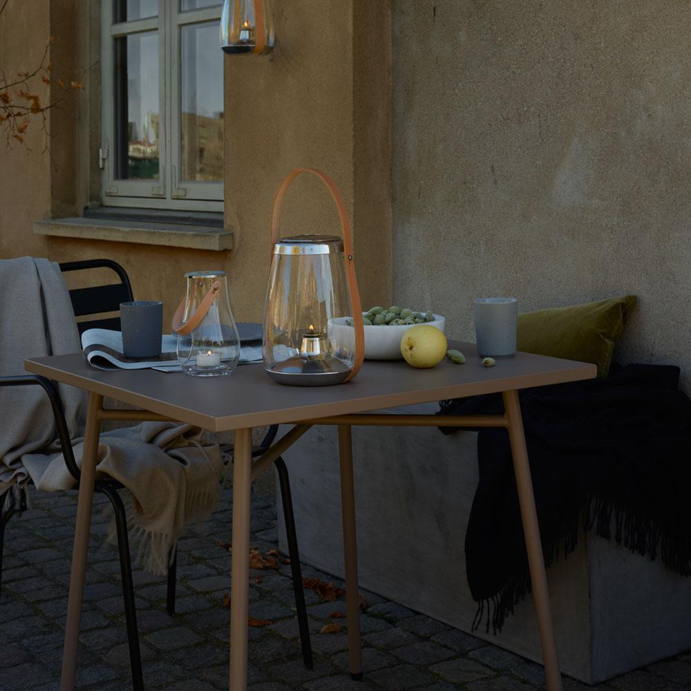 Holmegaard Design With Light Öllaterne Aus Glas Und Leder Höhe 33,1 Cm  Windlicht U2013