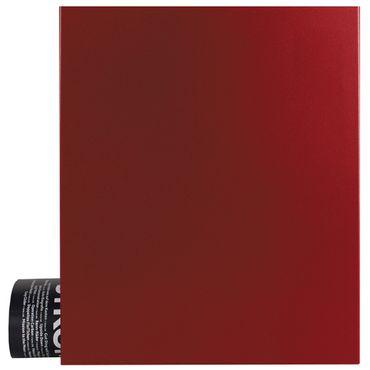 MOCAVI Box 111 Design-Briefkasten mit Zeitungsfach rubin-rot (RAL 3003)