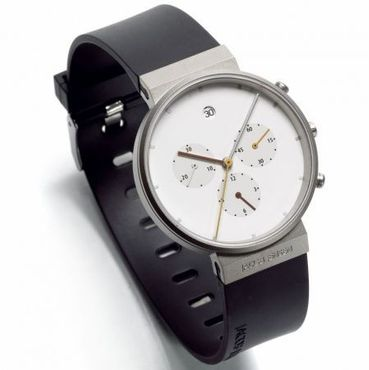 601 Chronograph Herrenarmbanduhr Weissblatt