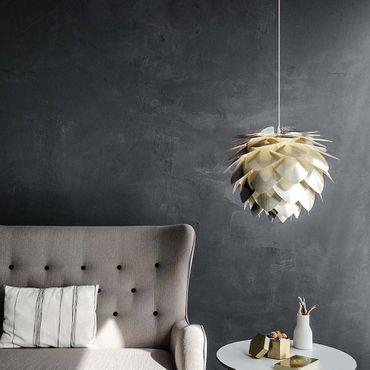Umage / VITA Silvia Pendelleuchte Messing gebürstet Lampenschirm D 45 cm Lampe – Bild 5