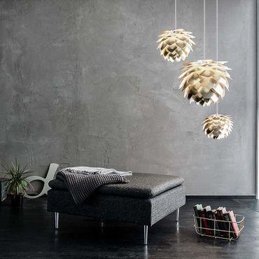 Umage / VITA Silvia Pendelleuchte Messing gebürstet Lampenschirm D 45 cm Lampe – Bild 7