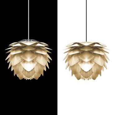 Umage / VITA Silvia Pendelleuchte Messing gebürstet Lampenschirm D 45 cm Lampe – Bild 2