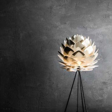 Umage / VITA Silvia Pendelleuchte Messing gebürstet Lampenschirm D 45 cm Lampe – Bild 8