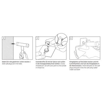 MOCAVI RING 110 Edelstahl-Qualitäts-Klingel anthrazit-grau matt RAL 7016 quadratisch (7,5 x 7,5 x 0,2cm) Design-Klingel – Bild 5