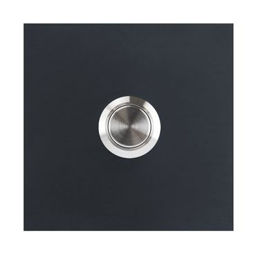 MOCAVI RING 115 Design-Klingel anthrazit-grau (RAL 7016) quadratisch seidenglanz