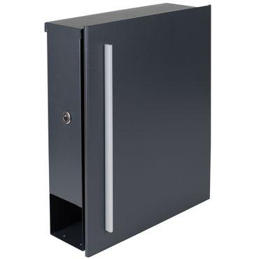 Standbriefkasten mit Zeitungsfach anthrazit-grau (RAL 7016) MOCAVI SBox 110R-b Briefkasten mit Pfosten (einbetonieren) Rechtsanschlag – Bild 5