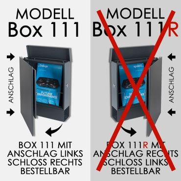 Standbriefkasten mit Zeitungsfach rubin-rot (RAL 3003) MOCAVI SBox 111b Briefkasten mit Pfosten (einbetonieren) – Bild 9