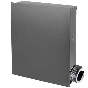 Standbriefkasten mit Zeitungsfach grau-aluminium (RAL 9007) MOCAVI SBox 111b Briefkasten mit Pfosten (einbetonieren) – Bild 7