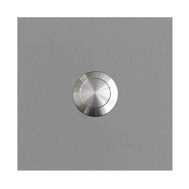 MOCAVI RING 115 Edelstahl-Design-Klingel weißaluminium seidenglanz RAL 9006 quadratisch (7,5 x 7,5 x 2)