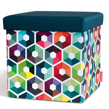 Remember Sitzbox Hexagon Hocker 38 x 38 x 38 cm