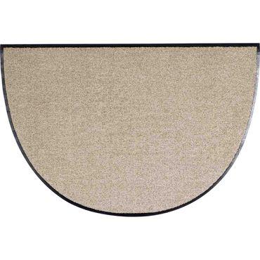Salonloewe Fußmatte waschbar Sand Halbrund 50x75 cm Schmutzfangmatte  – Bild 1