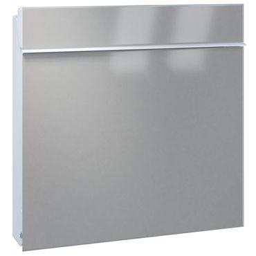 Serafini Briefkasten Flat Wide Stahl weiß/Front graualuminium 42,1 x 42,2 x 9,2 cm