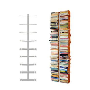 Radius 2-reihig Silber Wand Bücherregal gross Booksbaum 1 - 721 c