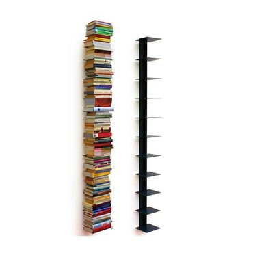 Haseform Bücherturm 170 cm (für 1,80 m Bücher) anthrazit Bücherregal Wandregal