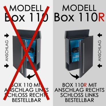 Standbriefkasten mit Zeitungsfach anthrazit-grau (RAL 7016) MOCAVI SBox 110R-b Briefkasten mit Pfosten (einbetonieren) Rechtsanschlag – Bild 13