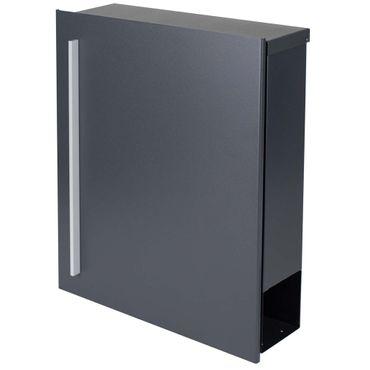 Standbriefkasten mit Zeitungsfach anthrazit-grau (RAL 7016) MOCAVI SBox 110R-b Briefkasten mit Pfosten (einbetonieren) Rechtsanschlag – Bild 7