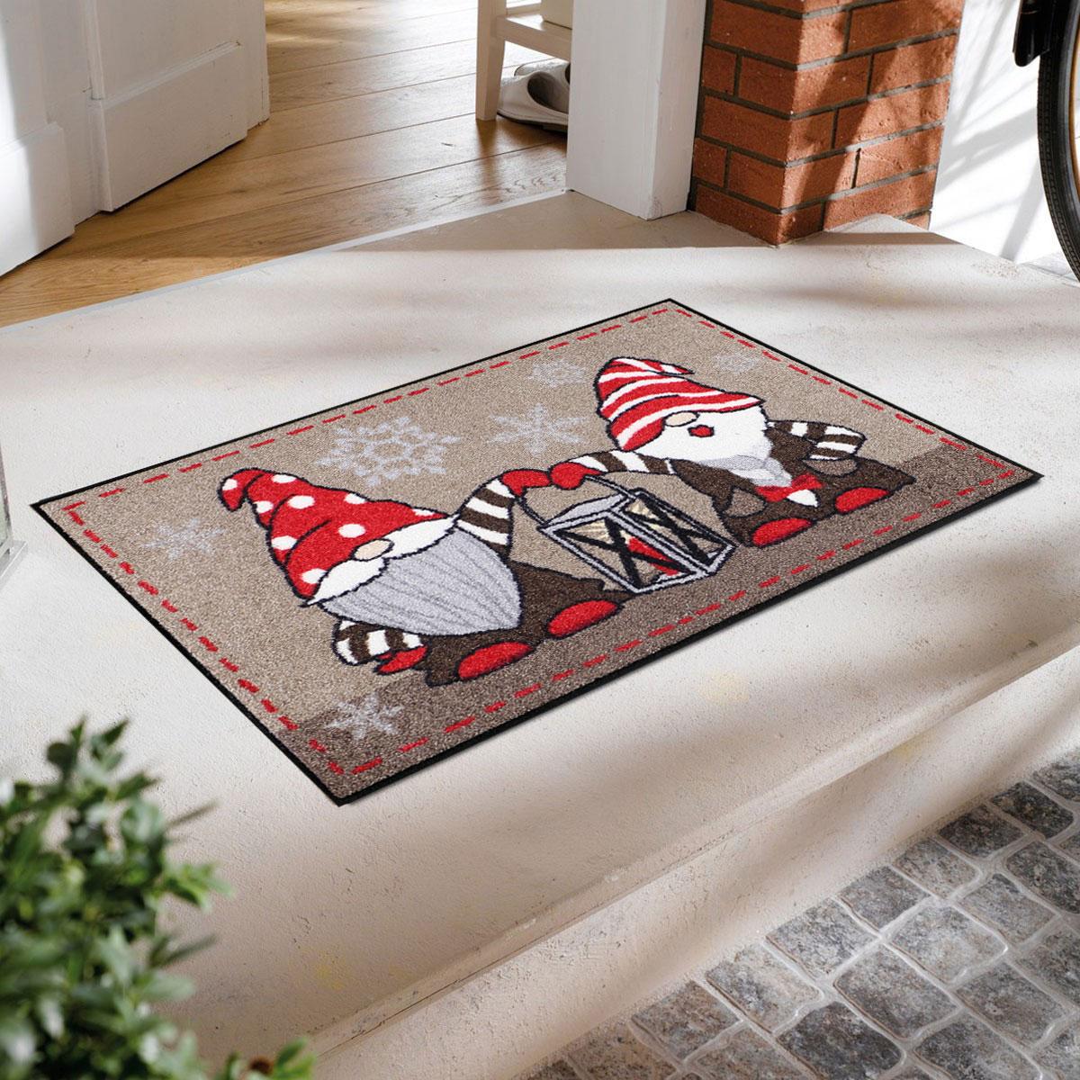 salonloewe waschbare fu matte wichtel mit laterne 50x75 cm schmutzfangmatte innen au en. Black Bedroom Furniture Sets. Home Design Ideas