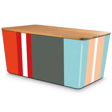 Remember Brotbox Seaside mit Bambusdeckel 36 x 21 x 17 cm
