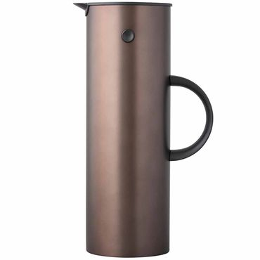 Stelton EM77 Isolierkanne 1 Liter dark brown  /dunkelbraun metallic Thermoskanne