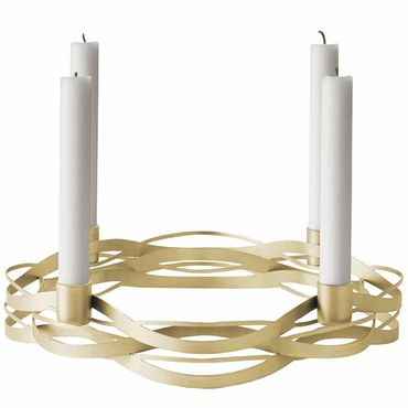 Stelton Tangle Advent Kerzenhalter aus Messing Adventskranz