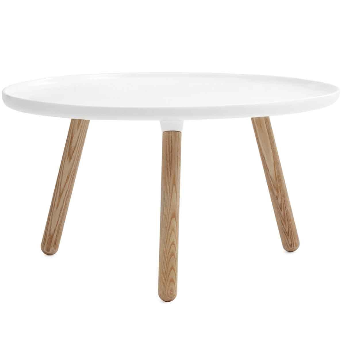 Normann Copenhagen Tablo Tisch Groß Weiß Durchmesser 78 Cm Beistelltisch