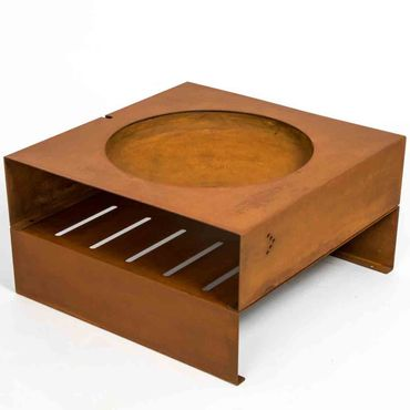 Keilbach Feuerstelle Light-My-Fire.cube 80x80x44 cm mit 1 Unterbau (ohne Grillrost)