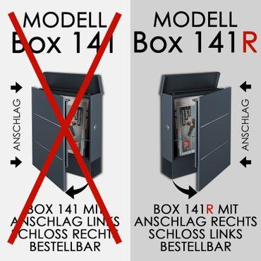 MOCAVI Box 141R Design-Briefkasten mit Zeitungsfach anthrazit-grau (RAL 7016) mit Edelstahl-Dekor – Bild 10