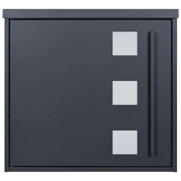 MOCAVI Box 103W Design-Briefkasten anthrazit-grau (RAL 7016) Sichtfenster  – Bild 2