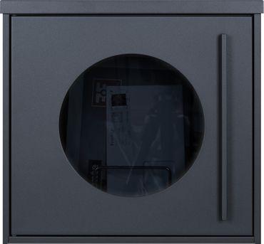 MOCAVI Box 105G Designer Briefkasten anthrazit (RAL 7016) Sichtfenster