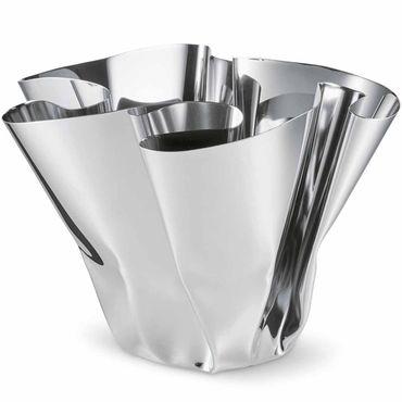 Philippi Margeaux Vase aus Edelstahl hochglanzpoliert H 20 cm