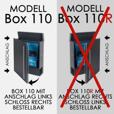 MOCAVI SBox 110b Standbriefkasten mit Zeitungsfach anthrazit-eisenglimmer (DB 703) Design-Briefkasten mit Fuß (einbetonieren) freistehend – Bild 17
