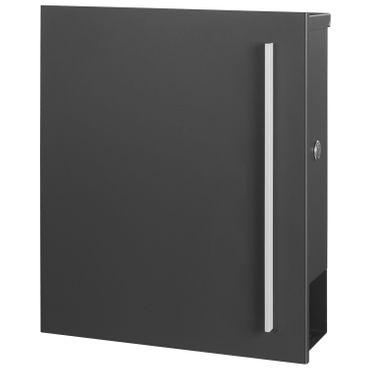 MOCAVI SBox 110b Standbriefkasten mit Zeitungsfach anthrazit-eisenglimmer (DB 703) Design-Briefkasten mit Fuß (einbetonieren) freistehend – Bild 9
