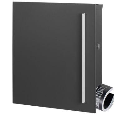 MOCAVI SBox 110b Standbriefkasten mit Zeitungsfach anthrazit-eisenglimmer (DB 703) Design-Briefkasten mit Fuß (einbetonieren) freistehend – Bild 8