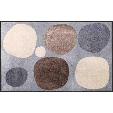 Salonloewe Broken Dots nature Fußmatte 75 x 120 cm Schmutzfangmatte waschbar