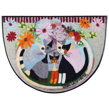 Rosina Wachtmeister Famiglia con fiore halbrund Fußmatte 60 x 85 cm  waschbar