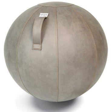 Vluv Veel Lederimitat-Sitzball Durchmesser 60-65cm Schlamm / Hellgrau