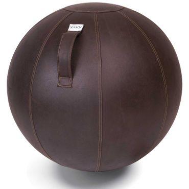 Vluv Veel Lederimitat-Sitzball Durchmesser 60-65cm Mokka / Dunkelbraun
