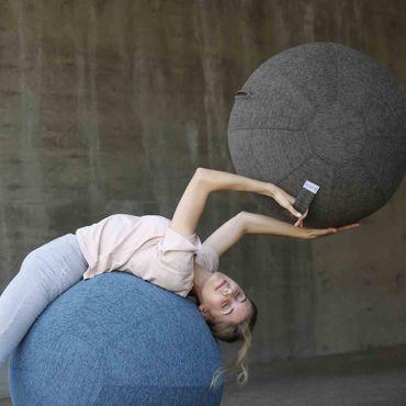 Vluv Stov Stoff-Sitzball Durchmesser 60-65 cm Concrete / Hellgrau – Bild 4