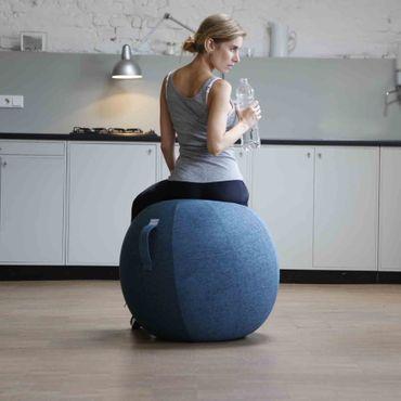 Vluv Stov Stoff-Sitzball Durchmesser 70-75 cm Macchiato / Hellbraun – Bild 4