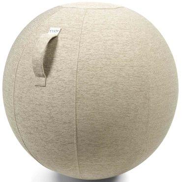 Vluv Stov Stoff-Sitzball Durchmesser 60-65 cm Kiesel / Hellbeige – Bild 1