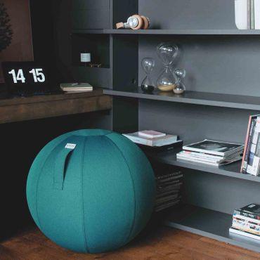 Vluv Leiv Stoff-Sitzball Durchmesser 60-65 cm Dark Petrol / Blau - Grün  – Bild 2