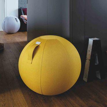 Vluv Leiv Stoff-Sitzball Durchmesser 70-75 cm Mustard / Senfgelb – Bild 2