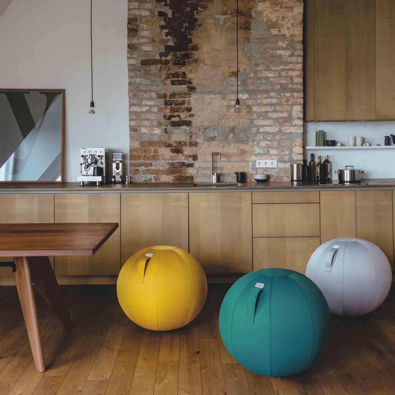 vluv leiv stoff sitzball durchmesser 60 65 cm stone grau m bel sitzm bel sitzb lle aus stoff. Black Bedroom Furniture Sets. Home Design Ideas